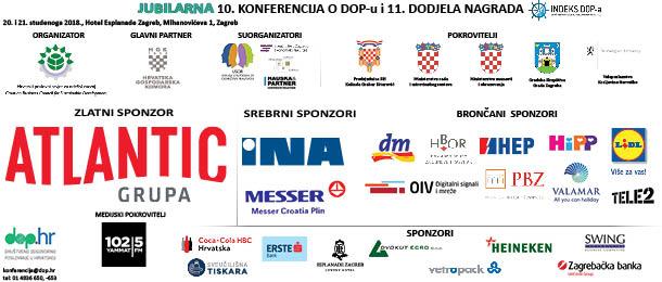 Sponzori i pokrovitelji jubilarne 10. konferencije o DOP-u Društveno odgovorno poslovanje u Hrvatskoj - Dop.hr